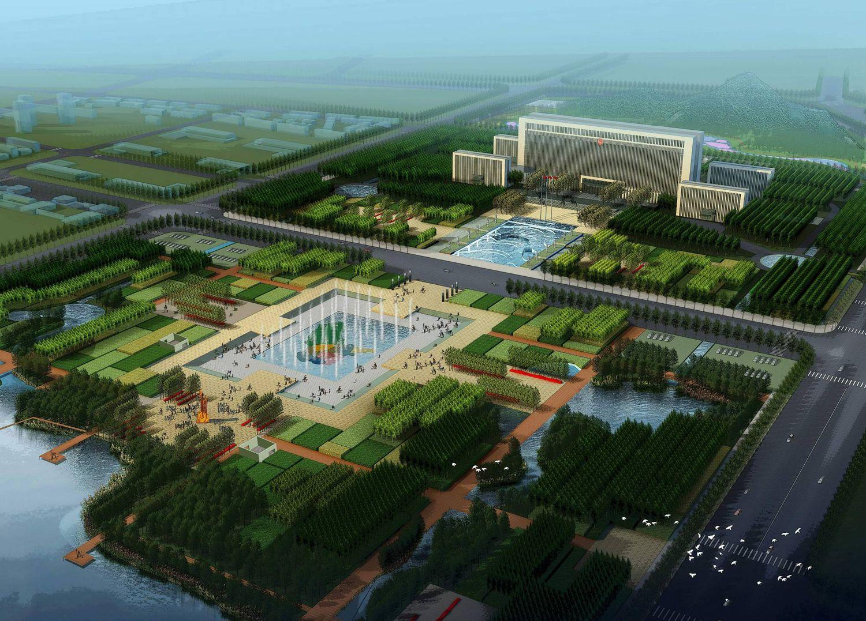乌兰察布市政广场景观设计