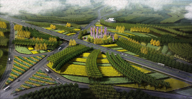 海南省东方市城市入口景观设计