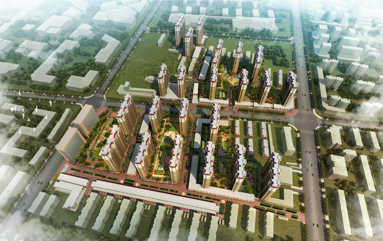 河北省衡水市何家庄旧村改造居住区景观设计