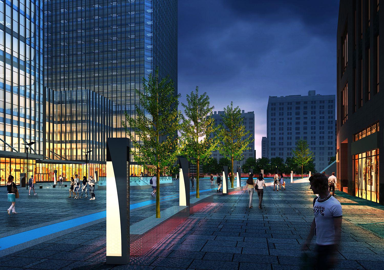 云南昆明北市区商业中心广场景观设计